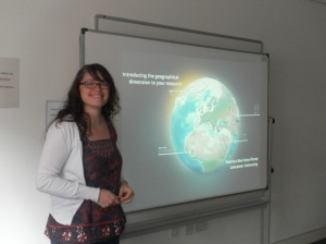 Dr Patricia Murrieta Flores gave us a hands-on introduction to GIS in the Humanities